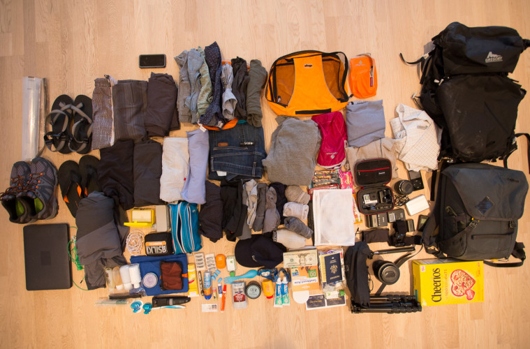 Packing list for round the world travel