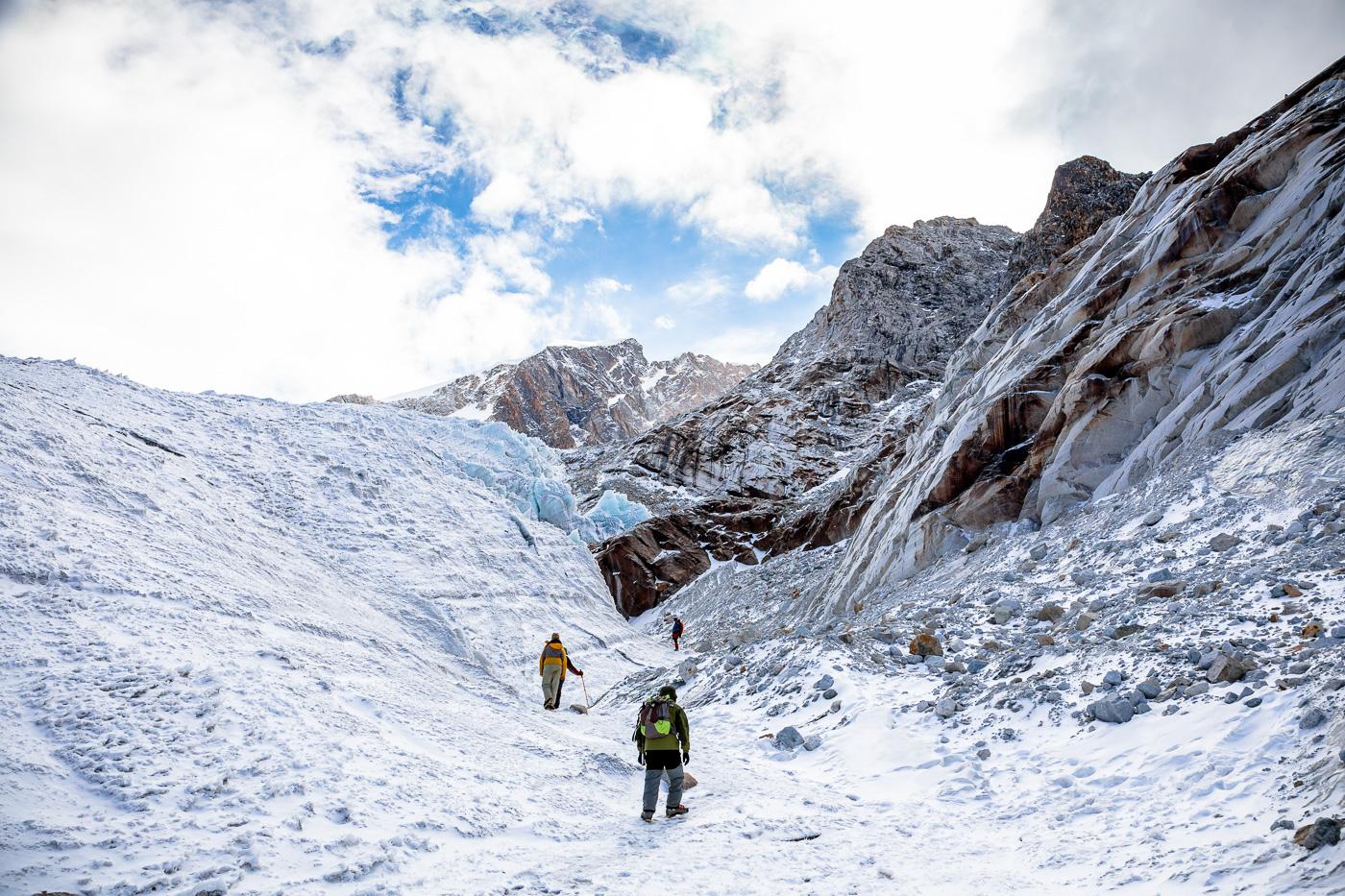 Ice Climbing Huayna Potosi Glacier Bolivia -13- July 2015