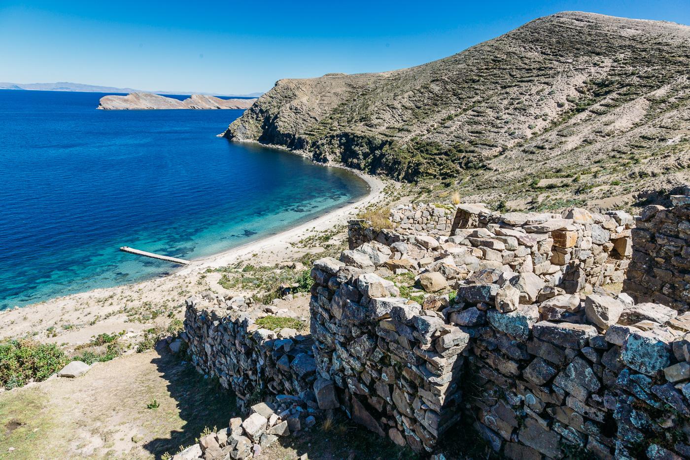 Isla Del Sol Incan Ruins, Lake Titicaca Bolivia July 2015