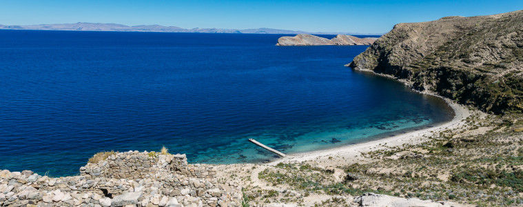 The deepest blue sky and lake you've ever experienced - Lake Titicaca, Peru
