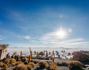 Enjoying the view from the top of Isla Incawasi - Salar de Uyuni, Bolivia