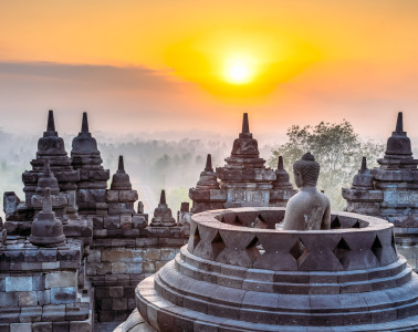 We purchased tickets for the sunrise tour of Borobudur temple