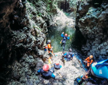 On a canyoning adventure in northern Bali with Adventure Spirit