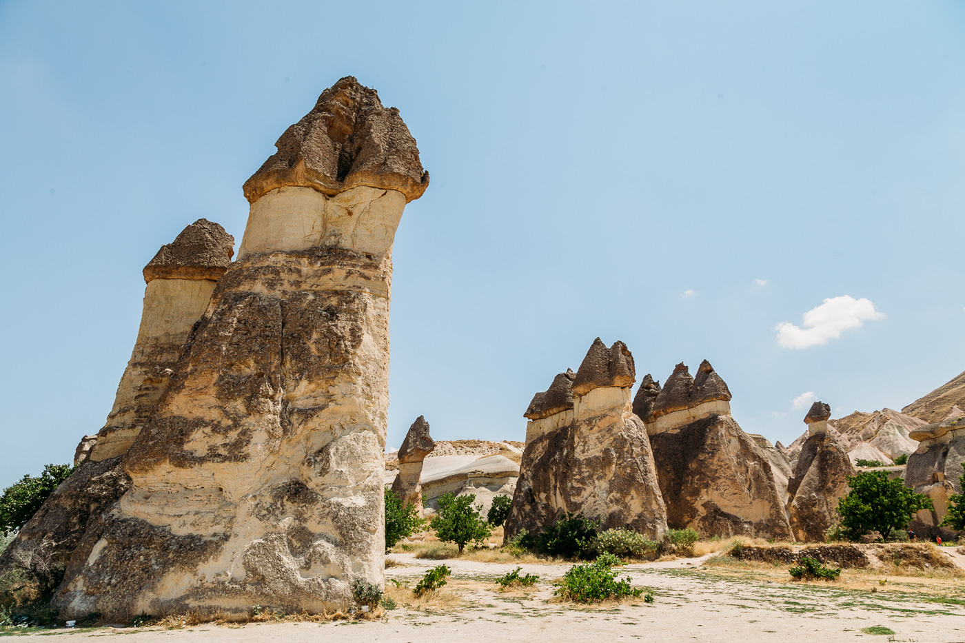 Cappadocia's Pasabag Valley (or monks valley) showcases where monks used to spend their lives in solitude