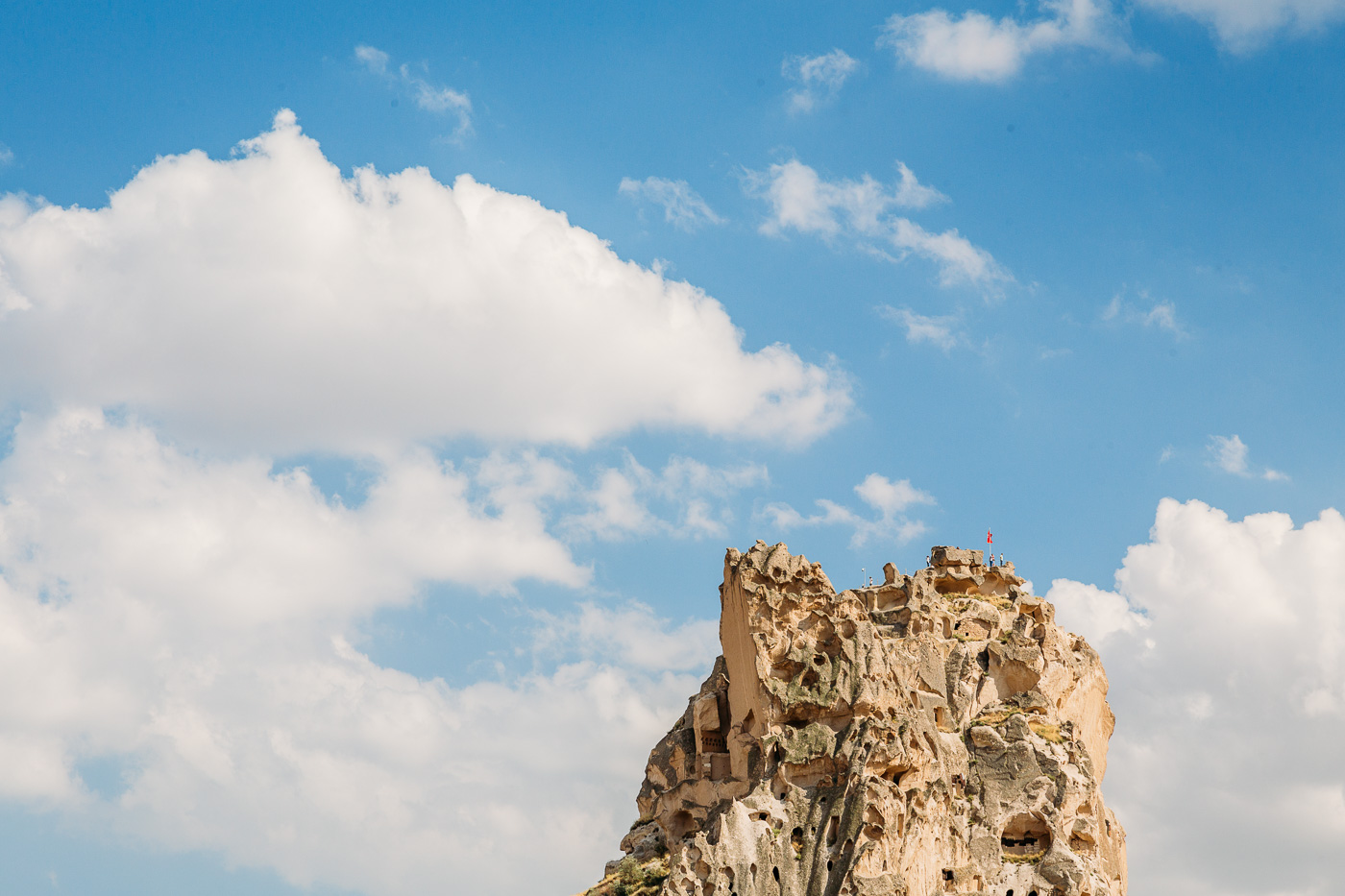 Uchisar Castle in Cappadocia is one of the region's most iconic examples of cave dwelling Anatolian civilizations