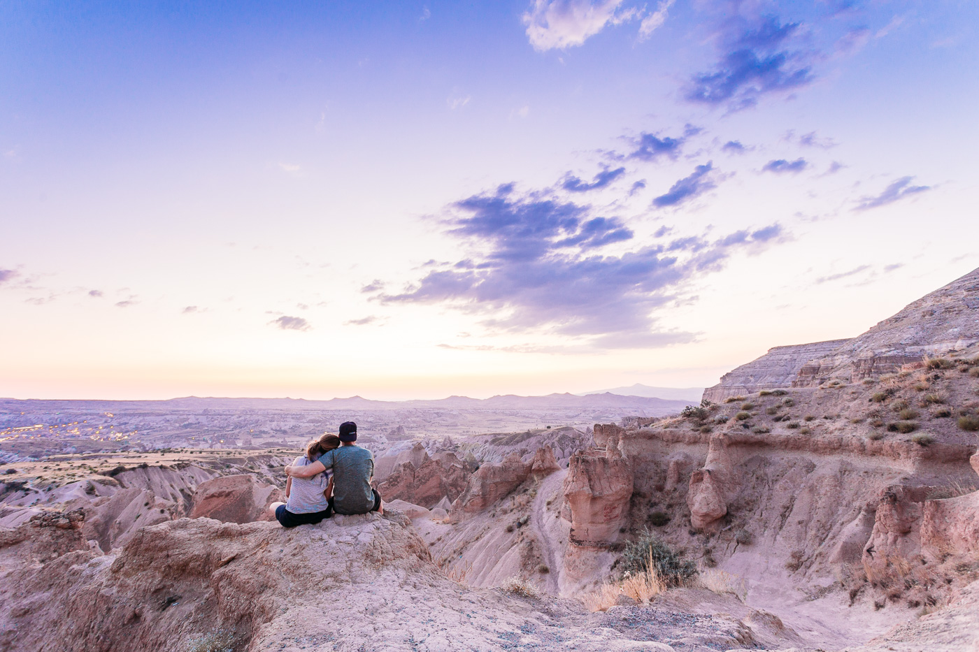 Ending our day enjoying a spectacular sunset over Red Valley in Cappadocia
