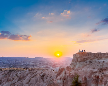Red Valley Sunset (Kizilcukur) offers spectacular views of Cappadocia's otherworldly tuff rock landscape