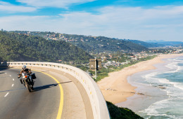 Cruising the N2 on our Garden Route self-drive by motorcycle