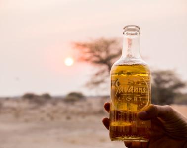 Watching the sun set over the savannah of Onguma Game Reserve outside of Etosha National Park