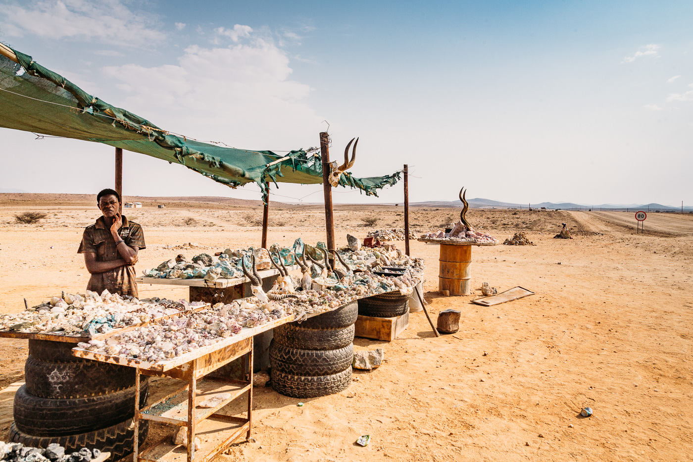 Stopping at the Gems Dealer Stands on our way to Swakopmund on our Namibia Self Drive safari