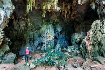 Visiting the beautiful Tu Lan caves on the Tu Lan Jungle Challenge in Phong Nha Vietnam
